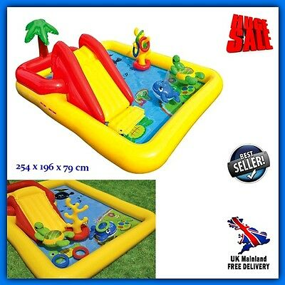 Kids Inflatable Water Slides Park Sprayer Outdoor Garden Play Centre Pool Games