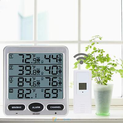 Ambient Weather WS-10 Wireless Indoor Outdoor Thermo-Hygrometer 3 Remote Sensor