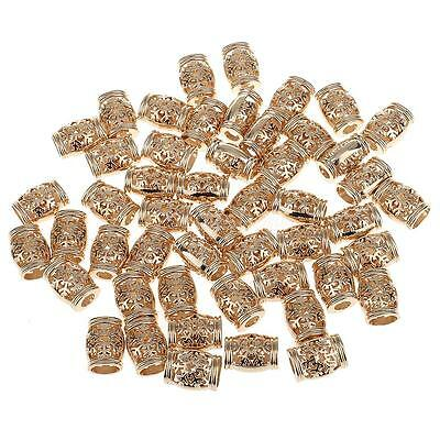 50pcs Metal Gold Bell Shaped Bell Stoppers Cord End Lock for Craft Sewing