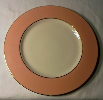 Lenox Pink Edge with Gold Trim Dinner Plate, X305-214, 10 5/8 Inch Diameter