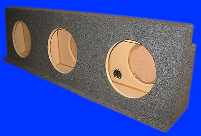"Chevy Silverado Crewcab Hd 2001-07 10"" 3 Hole Grey Subwoofer Sub Enclosure Box"
