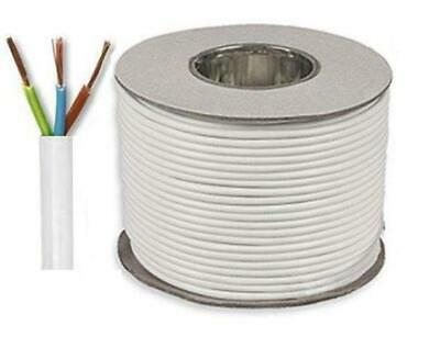 5 metre Cut Length 3 Core Round White Flex Flexible Cable 0.75 MM Business, Industry & Science