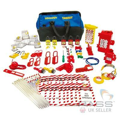 NEW Premium Electricians Lockout Kit  - Circuit Breakers, Hasps, Padlocks, Ties