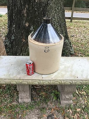 5 Gal Stoneware Jug Crock Whiskey Wine Vinegar Moonshine 2-Tone Brown & Cream