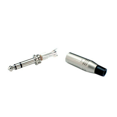 """Lynx 6.35mm 1/4"""" Cable Solder Stereo Balanced Jack Connector Audio Plug PRO"""