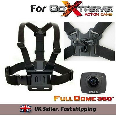Body Chest Strap Harness Mount Holder for GoXtreme Full Dome 360 Action Camera