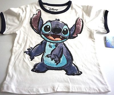 Disney Youth Boys Girls White Stitch Lilo T Shirt Tee Top