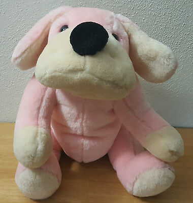 Pink Fao Schwarz Penelope The Pup Puppy Dog Toy Stuffed Animal Plush Jointed