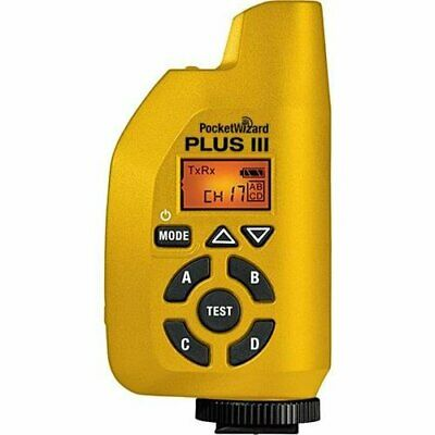 PocketWizard Plus III Radio Transceiver for Long Range Wireless Flash Control