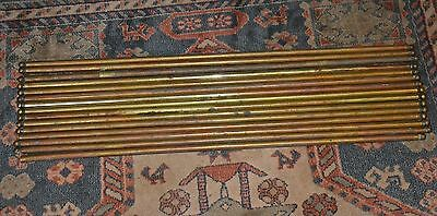 Victorian set of stair rods x15