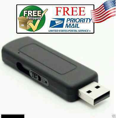 Professional USB Voice Activated Hidden Spy Audio Recorde Device 8GB 140Hr