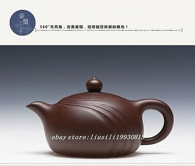 Pure Yixing Dark-Red Enameled Pottery Square Teapot