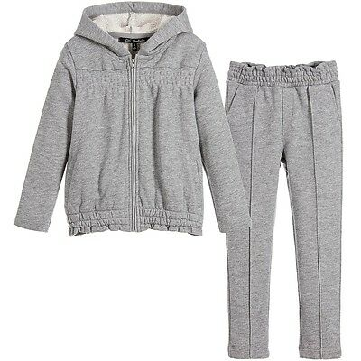 Lili Gaufrette Baby Girls Grey Glittery Tracksuit 3 Years