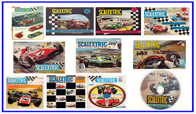 Scalextric Catalogue 1960 1961 1962 1963 1964 1965 1966 1967 1968 1969 on DVD