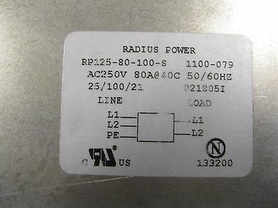 Radius Power RP125-80-100-S Power Line Filter