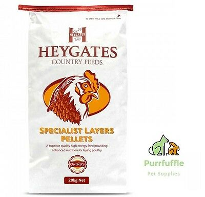 20Kg Heygates Specialist Layers Pellets Chicken Food Feed 17% Protein