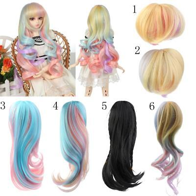 Fashion Doll Wig Hairpiece Long/Short Hair for 1/3 1/4 BJD SD DZ DOD LUTS Dolls