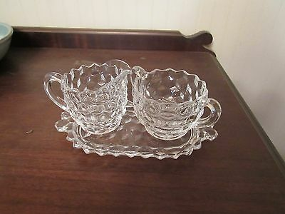 Fostoria American Small Cream And Open Sugar Set - Mint