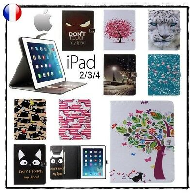 Etui Coque Housse Cuir PU Leather Card Slot Cover Stand Case iPad 2/3/4