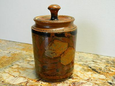 Japanese antique pottery glaze TEA CADDY Chaire Container Tea Ceremony signed