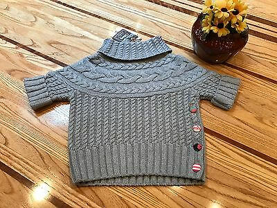 Flaxen Reese Gray Sweater ~ Matilda Jane ~ Girls Size 6 / Nwt / Once Upon A Time