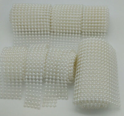 HOt PEARL MESH RIBBON banding Wedding Party Cake Craft Trim bling decoration
