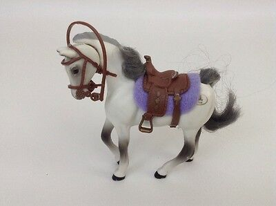 Grand Champion (GC) Toy Horse Figure (White and Black) w/ Saddle and Reigns