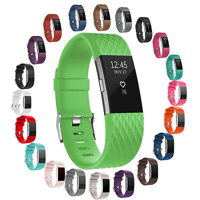 20+ Color Soft Silicone Wristband Strap Replacement Bands For Fitbit Charge 2