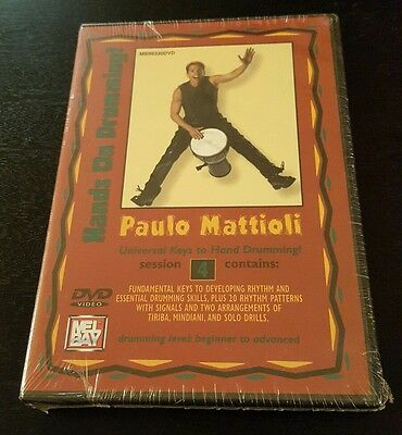 Paulo Mattioli: Hands On Drumming - Session 4 (DVD) Mel Bay music lessons NEW
