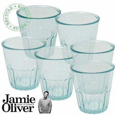 6 x Jamie Oliver Recycled Water Drinking Juice Recycled Glass Tumbler, 250ml