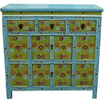 Original Painted Tibetan Sideboard Cabinet (35-023)