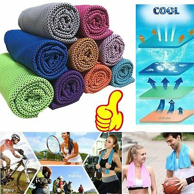 Cold Towel Summer Sports Ice Cooling Towel Hypothermia Cool Towel 90*35CM fg