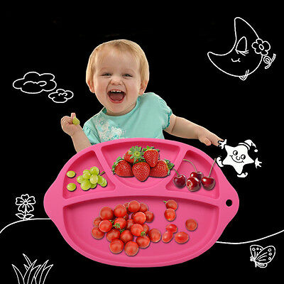 Silicone Food Plate Mat Baby Toddler Child Kids Divided Dish Pads Bowl Plates