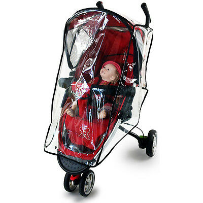 Transparent Baby Kid Buggy Pushchair Stroller Pram Rain Cover PVC Doll Protector