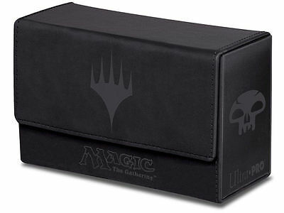 Leatherette Black Mana Card Dual Flip Box MTG Magic Gathering Deck Ultra Pro