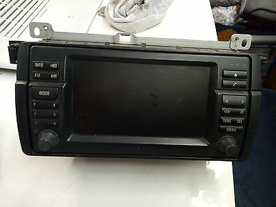 BMW E46 3 SERIES 330i 2002 RADIO CD PLAYER BLUETOOTH NAV/SAT PHONE TOUCH SCREEN
