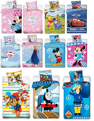 2-tlg Kinder Bettwäsche DISNEY 100x135 Winnie Minni SAM PAW PATROL THOMAS