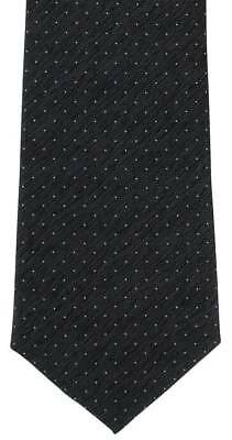 Michelsons of London Pin Dot Silk Tie - Black