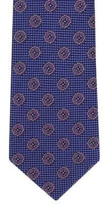 Michelsons of London Floral Medallion Silk Tie - Blue