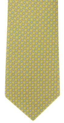 Michelsons of London Mini Grid Silk Tie - Yellow
