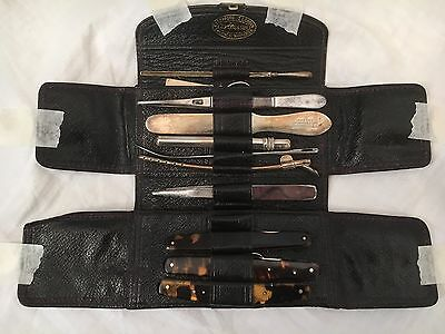 19th CENTURY ANTIQUE J. WEISS & SON FIELD SURGEONS MEDICAL KIT IN LEATHER CASE