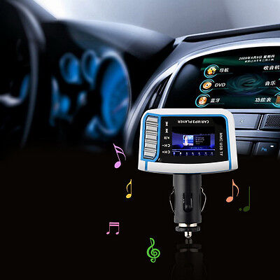 "1.44"" LCD Wireless FM Transmitter Car MP3 Player TF Card USB Drive Remote GL"
