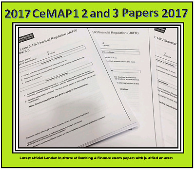 LATEST 2017 Complete set of 8 Specimen Papers for CeMAP 1 2 and 3