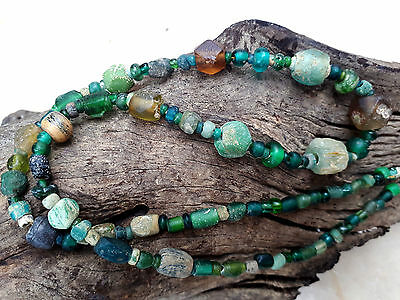 Extremely RARE! Emerald tone AUTH Egyptian Faience Ancient Eye Phoenician  Bead