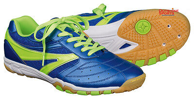TIBHAR Shoes Blue Thunder Green Professional Table Tennis Shoes