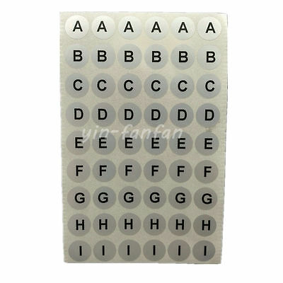 Sheet sticker number letter alphabet vinyl water proof A-Z 0-9 label adhesive r1