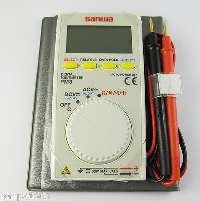1pc Sanwa PM3 Portable Mini Pocket Multi-function Digital Multimeter Tester