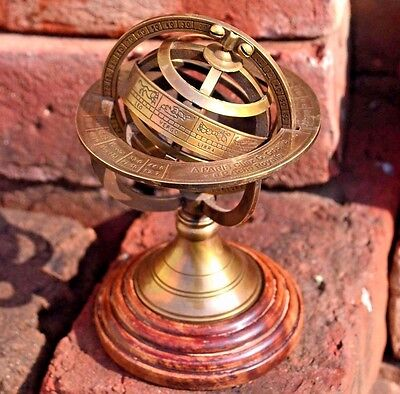 """Armillary Sphere 6""""inch Solid Brass Demonstrational"""