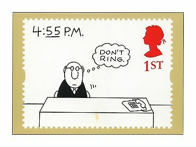 HUMOROUS CARTOON by CHARLES BARSOTTI NEW YORKER CARTOONIST ROYAL MAIL STAMP CARD