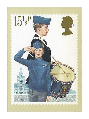 THE BOYS' BRIGADE 1st ENFIELD - YOUTH ORGANISATIONS ROYAL MAIL PHQ 58 STAMP CARD